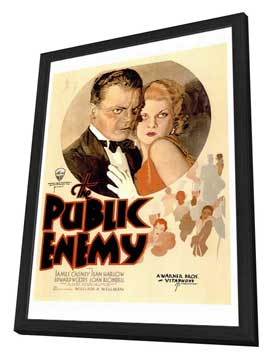 The Public Enemy - 27 x 40 Movie Poster - Style A - in Deluxe Wood Frame