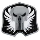 The Punisher - Shield Silver and Black Belt Buckle