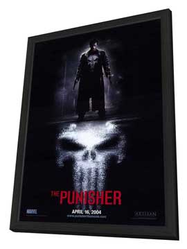 The Punisher - 11 x 17 Movie Poster - Style A - in Deluxe Wood Frame