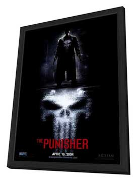 The Punisher - 27 x 40 Movie Poster - Style A - in Deluxe Wood Frame