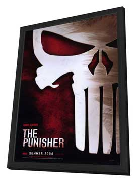 The Punisher - 27 x 40 Movie Poster - Style B - in Deluxe Wood Frame