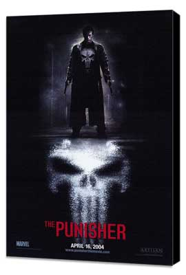The Punisher - 11 x 17 Movie Poster - Style A - Museum Wrapped Canvas
