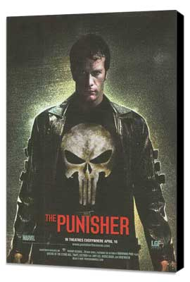 The Punisher - 11 x 17 Movie Poster - Style H - Museum Wrapped Canvas