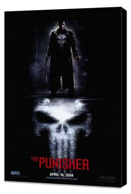 The Punisher - 27 x 40 Movie Poster - Style A - Museum Wrapped Canvas