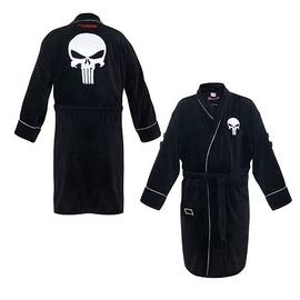 The Punisher - Black Cotton Bath Robe