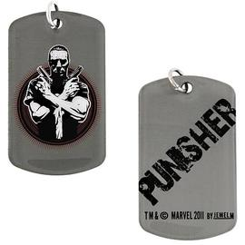 The Punisher - Crossed Guns Dog Tag Necklace