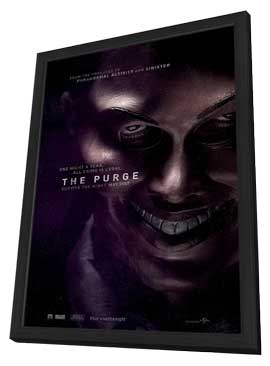 The Purge - 27 x 40 Movie Poster - Style B - in Deluxe Wood Frame