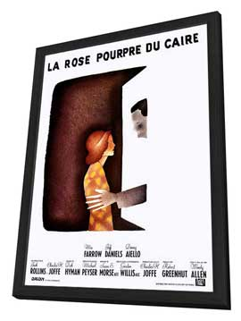 The Purple Rose of Cairo - 27 x 40 Movie Poster - French Style A - in Deluxe Wood Frame