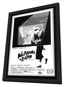 The Purple Rose of Cairo - 11 x 17 Movie Poster - Spanish Style A - in Deluxe Wood Frame
