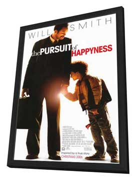 The Pursuit of Happyness - 11 x 17 Movie Poster - Style A - in Deluxe Wood Frame