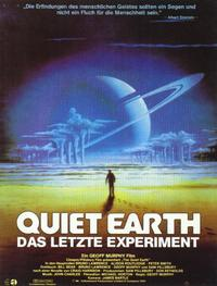 The Quiet Earth - 11 x 17 Movie Poster - German Style A