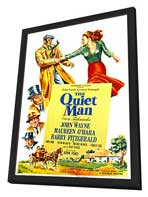 The Quiet Man - 11 x 17 Movie Poster - Style A - in Deluxe Wood Frame
