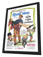 The Quiet Man - 27 x 40 Movie Poster - Style A - in Deluxe Wood Frame