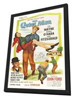 The Quiet Man - 27 x 40 Movie Poster - Style D - in Deluxe Wood Frame