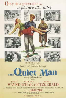 The Quiet Man - 27 x 40 Movie Poster - Style C