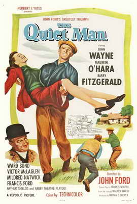 The Quiet Man - 27 x 40 Movie Poster - Style D