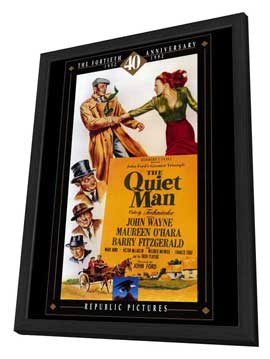 The Quiet Man - 27 x 40 Movie Poster - Style B - in Deluxe Wood Frame