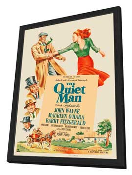 The Quiet Man - 27 x 40 Movie Poster - Style E - in Deluxe Wood Frame