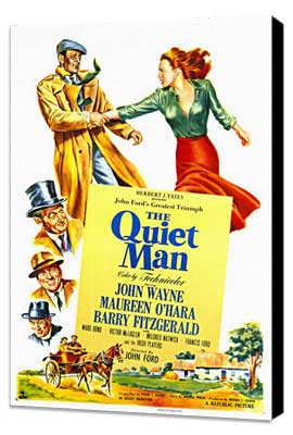 The Quiet Man - 11 x 17 Movie Poster - Style A - Museum Wrapped Canvas
