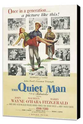 The Quiet Man - 27 x 40 Movie Poster - Style C - Museum Wrapped Canvas