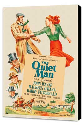 The Quiet Man - 27 x 40 Movie Poster - Style E - Museum Wrapped Canvas