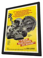 The Racing Scene - 11 x 17 Movie Poster - Style A - in Deluxe Wood Frame