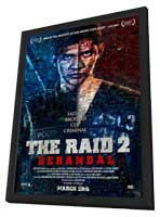 The Raid 2 - 11 x 17 Movie Poster - Style B - in Deluxe Wood Frame