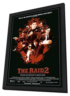 The Raid 2 - 11 x 17 Movie Poster - Style A - in Deluxe Wood Frame