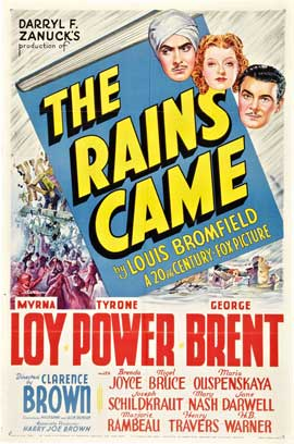 The Rains Came - 27 x 40 Movie Poster - Style A