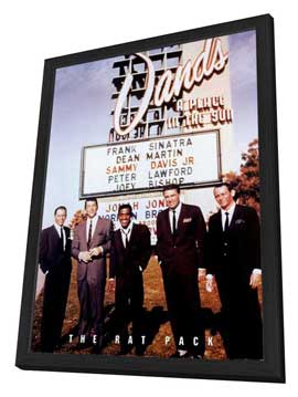 The Rat Pack - 27 x 40 Movie Poster - Style A - in Deluxe Wood Frame