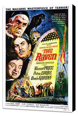 The Raven - 27 x 40 Movie Poster - Style C - Museum Wrapped Canvas