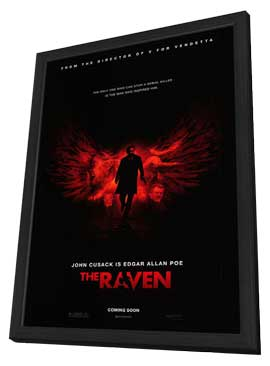 The Raven - 27 x 40 Movie Poster - Style B - in Deluxe Wood Frame