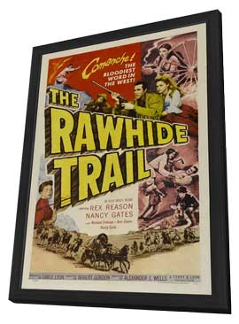 The Rawhide Trail - 11 x 17 Movie Poster - Style A - in Deluxe Wood Frame