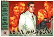 The Razor's Edge - 11 x 17 Movie Poster - French Style A