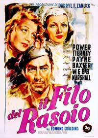 The Razor's Edge - 11 x 17 Movie Poster - Italian Style A