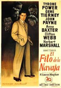 The Razor's Edge - 11 x 17 Movie Poster - Spanish Style B