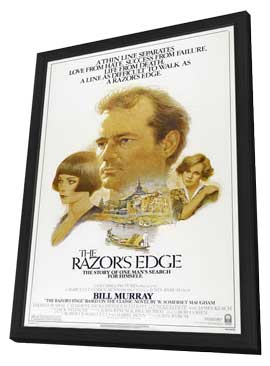 The Razor's Edge - 27 x 40 Movie Poster - Style B - in Deluxe Wood Frame