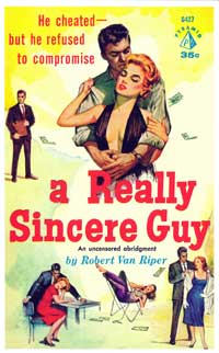 The Really Sincere Guy - 11 x 17 Retro Book Cover Poster