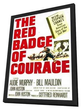 The Red Badge of Courage - 11 x 17 Movie Poster - Style A - in Deluxe Wood Frame