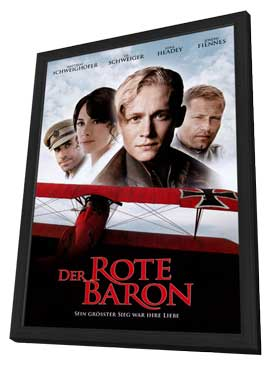 The Red Baron - 27 x 40 Movie Poster - German Style A - in Deluxe Wood Frame