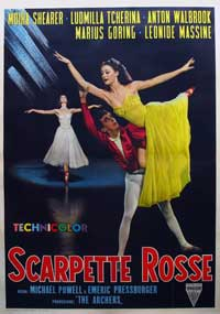 The Red Shoes - 11 x 17 Movie Poster - Italian Style C