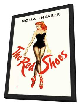 The Red Shoes - 11 x 17 Movie Poster - Style C - in Deluxe Wood Frame