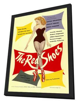 The Red Shoes - 27 x 40 Movie Poster - Style A - in Deluxe Wood Frame