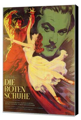The Red Shoes - 11 x 17 Movie Poster - German Style A - Museum Wrapped Canvas