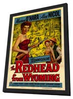 The Redhead from Wyoming - 11 x 17 Movie Poster - Style A - in Deluxe Wood Frame
