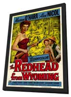 The Redhead from Wyoming - 27 x 40 Movie Poster - Style A - in Deluxe Wood Frame