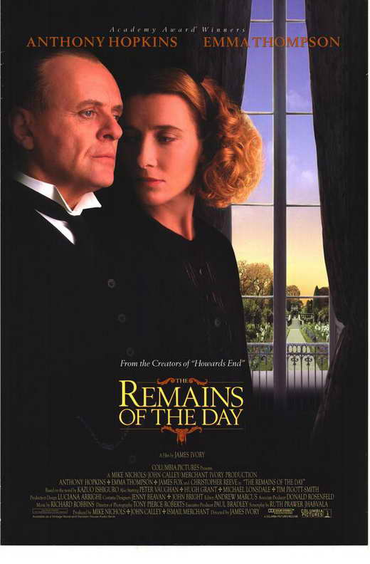 the remains of the day movie posters from movie poster shop