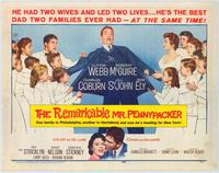 The Remarkable Mr. Pennypacker - 22 x 28 Movie Poster - Half Sheet Style A