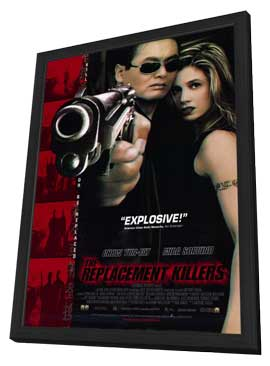 The Replacement Killers - 11 x 17 Movie Poster - Style A - in Deluxe Wood Frame