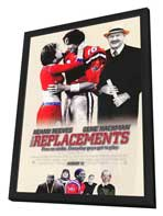 The Replacements - 27 x 40 Movie Poster - Style B - in Deluxe Wood Frame